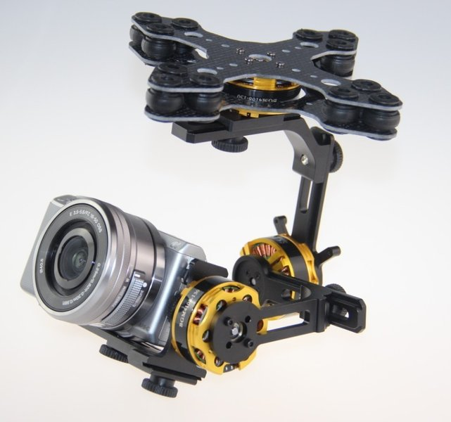 EASY Gimbal 3-Axis Brushless <b>RTF</b>, for Sony Nex7, Nex5, ET